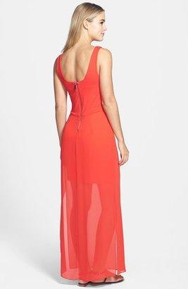 Vince Camuto Chiffon Overlay Maxi Dress