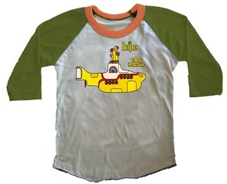 Rowdy Sprout Boy's Beatles Yellow Submarine Raglan Tee - Army