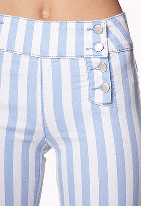 Forever 21 Matelot Vertical Striped Jeans