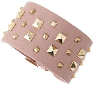 Valentino Wide Multi Rockstud Cuff, Pink