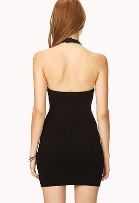 Forever 21 Showstopper Halter Dress