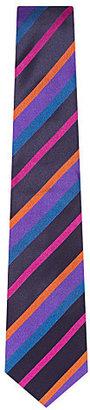 Duchamp Block stripe satin tie - for Men