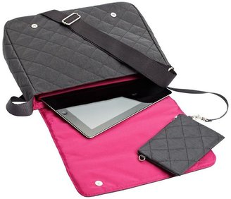Container Store Quilted Carry All Crossbody Charcoal