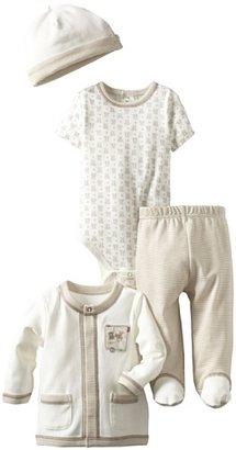Little Me Baby-Boys Newborn Fuzzy Bear 3 Piece Pant And Hat Set