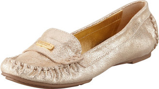 Kate Spade Weekend Rubber-Bottom Loafer, Gold