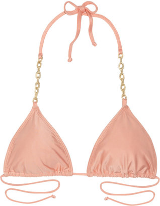 Babajaan Pam chain-trimmed triangle bikini top