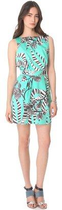 Thakoon Zebra Backless Mini Dress