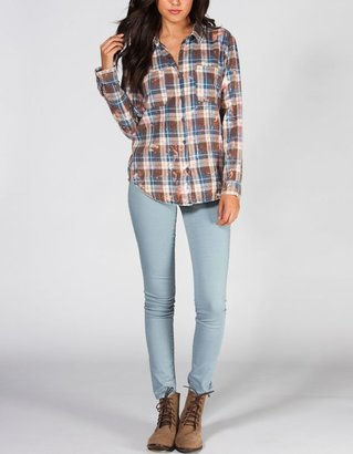 Vanilla Star Bleached Womens Flannel Shirt