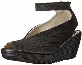 FLY London Women's Yala Perforated Wedge Sandal $94.45 thestylecure.com