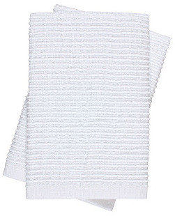 S/8 Whim Wave Dishcloths, White