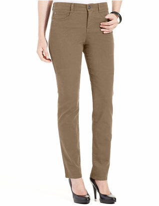 Style & Co Petite Slim-Leg Tummy-Control Jeans, Created for Macy's $49 thestylecure.com