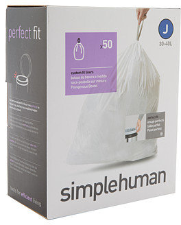 Simplehuman 30-40L Code J Can Liners - 50 Pack