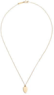 "J.Crew 14k Gold Shield Charm Necklace With 16"" Chain"