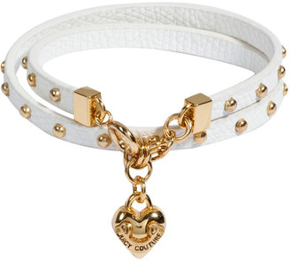 Juicy Couture White Double Wrap Leather Bracelet