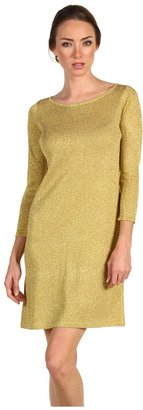 Tibi Long Sleeve Dress (Gold) - Apparel