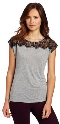 French Connection Women's Lena Lace Jersey
