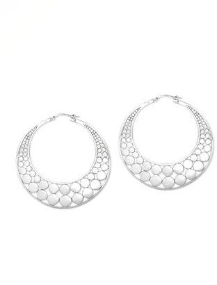 John Hardy Dot Slice Hoop Earrings