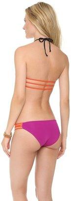 L-Space Colorblock Strap Reversible Bikini Top