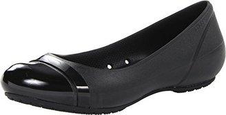 crocs Women's Cap Toe Flat $39.99 thestylecure.com