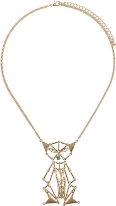 Topshop Unique Short Egyptian Cat Necklace