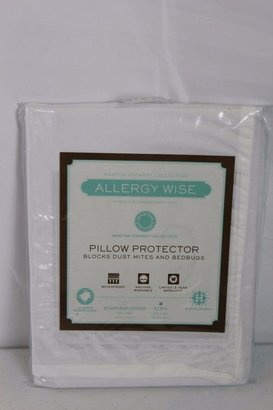 Martha Stewart Collection Allergy Wise King Pillow Protector Hypoallergenic