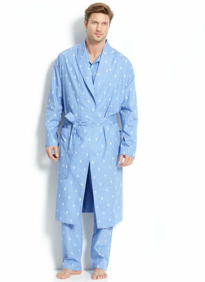 Polo Ralph Lauren Men's All Over Polo Player Robe $65 thestylecure.com