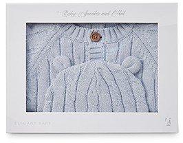 Elegant Baby Elegant Infant Boys' Cable-Knit Cardigan & Hat Gift Set -Baby