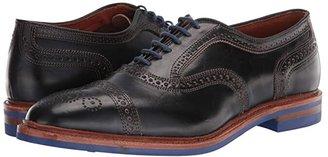 Allen Edmonds Strandmok (Brown Nubuck) Men's Lace Up Cap Toe Shoes