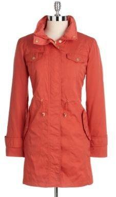 Ellen Tracy Petite Hooded Anorak Walker Jacket