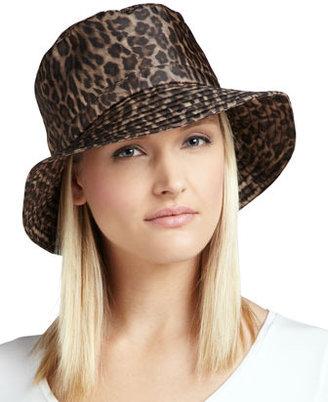Eric Javits Water-Repellant Leopard-Print Rain Hat