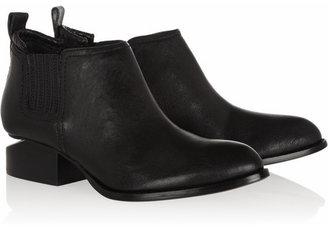 Alexander Wang Leather cutout-heel ankle boots