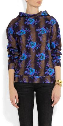 Christopher Kane Floral-print cotton-jersey hooded sweatshirt