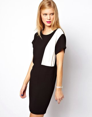 Asos Shift Dress with Color Block Panel