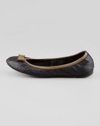 Tory Burch Eddie Bow Ballerina Flat, Black