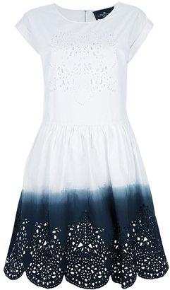 Designers Remix bi-colour crochet dress