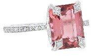 Cathy Waterman Pink Tourmaline Vine Seat Ring - Platinum