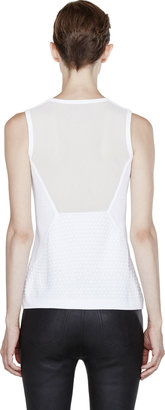 Rag and Bone Rag & Bone White Mesh-Trimmed Blair Tank