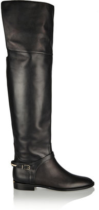 Burberry Leather Over-the-Knee Boots Shoes & Accessories