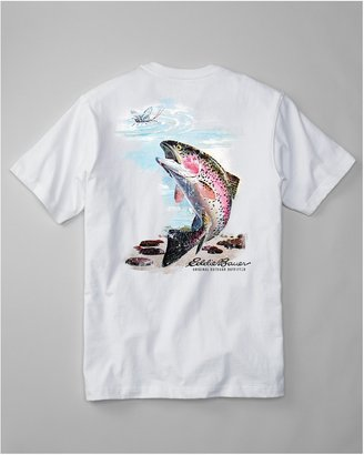 Eddie Bauer Classic Fit Graphic T-Shirt - Rainbow Trout Rising