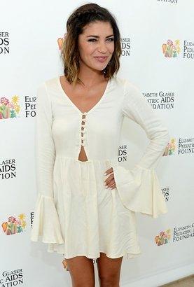 For Love & Lemons Lotus Dress in Ivory as Seen On Jessica Szohr