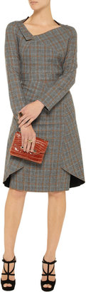 Roland Mouret Drummle checked wool-tweed dress