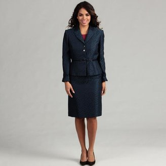 Tahari Women's Jacquard Belted Skirt Suit $47.99 thestylecure.com