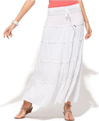 INC International Concepts Skirt, Tiered Maxi
