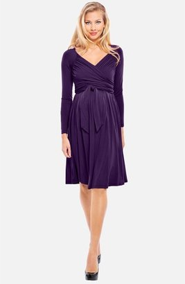 Olian 'Lucy' Draped Stretch Knit Maternity Dress
