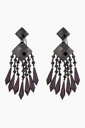 Balmain Black & Burgundy Chandelier Earrings