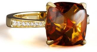 Frederic Sage Jelly Bean Citrine & Diamond Ring