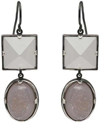 Bottega Veneta Moonstone drop earrings