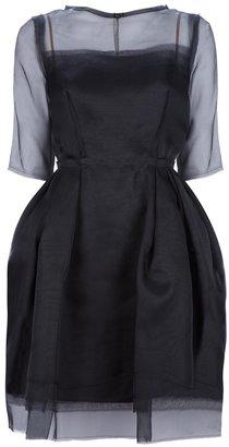 Lanvin sheer layered dress