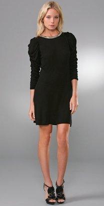 Alice + Olivia Studded Ruched Sleeve Dress