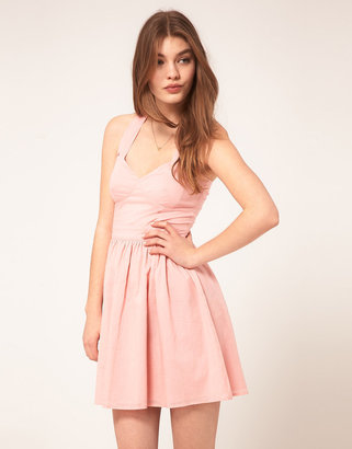 Asos Summer Dress With Sweetheart Neck